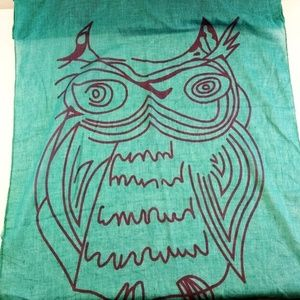 New LOF Love of Fashion Scarf Shawl Wrap Aqua Grn